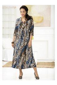 Matte Jersey Regular-length Notch-neck Dress
