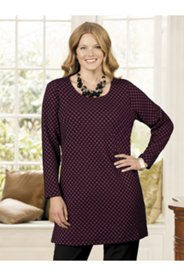 Jacquard Dot Knit Tunic