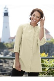 Poplin Roll-sleeve Tunic