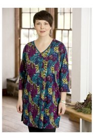 Painted Snakes Print Knit Tunic
