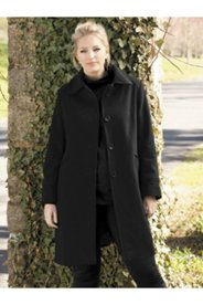 Rounded Collar Dress Coat