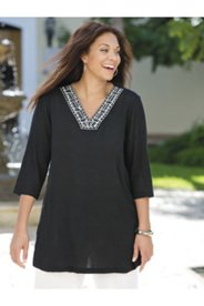Juno Embroidered Gauze Tunic