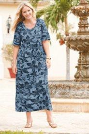 Flower of Java Print Knit Dress