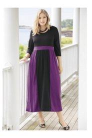 Concord Colorblock Knit Empire Dress