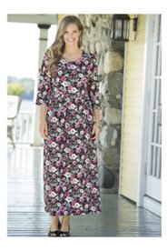 Floral Delight Stretch Knit Dress