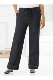 Denim Stretch Wide-leg Pants