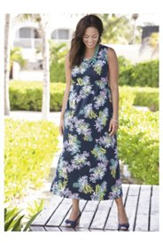 Moonlight in the Tropics Knit Empire Dress