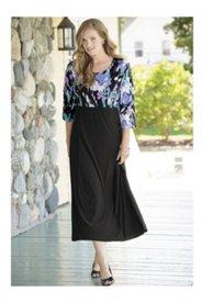 Matte Jersey Princess Seam Empire Dress