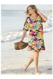 Thousand Palms Print Knit Tunic Dress