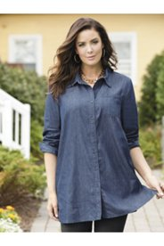 Whisper-light Denim Big Shirt