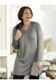 Tessa Metallic Knit Pullover