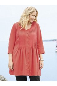 Nancy Button-front Knit Tunic
