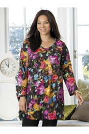 Bold Bouquet Knit Tunic