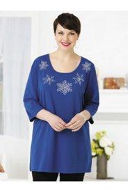 Sparkling Snowflakes Knit Tunic