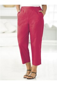 Vented Stretch Capri Pants