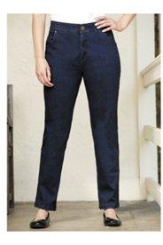 Comfort Waist Straight-leg Jeans
