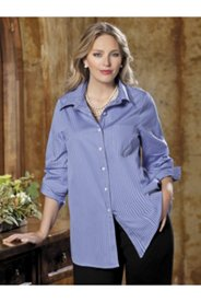 Iron-free Spread Collar Shirt