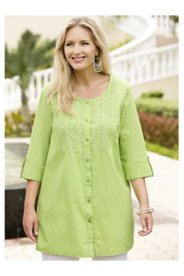 Carmen Crochet-trim Tunic