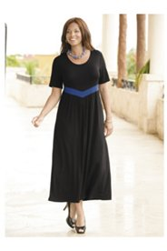V-waist Empire Knit Dress