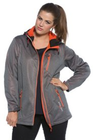 Neon Orange Accent Softshell Jacket