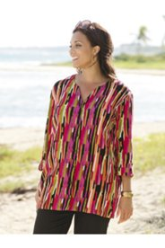 Tropic-cool Button-front Gauze Tunic