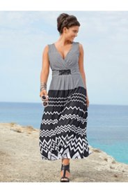 Zig Zag Print Maxi Dress