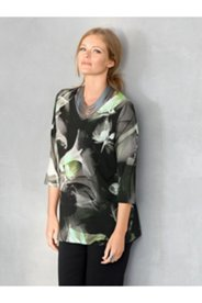 Abstract Lily Print Knit Top