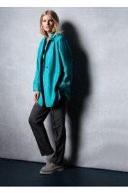 Linen Blend Crinkle Jacket