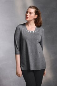 Bead Boatneck Knit Top