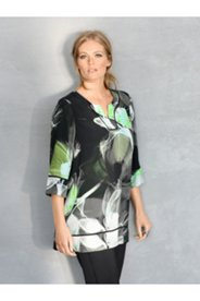 Abstract Lily Print Blouse