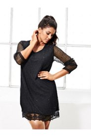 Mesh Lace Overlay Nightgown