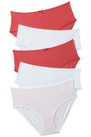 5 Pack of Panties - Dot and Red