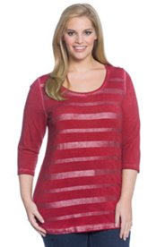 Oil Dye Stripe Knit Top