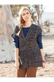 Marled Yarn Sweater Vest