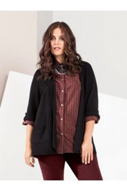 Roll Front Cardigan Sweater