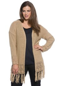 Long Fringe Caridgan Sweater