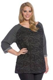 Lace Overlay Sweatshirt