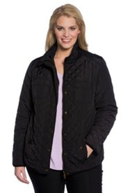 Snap Front Quilted Jacket