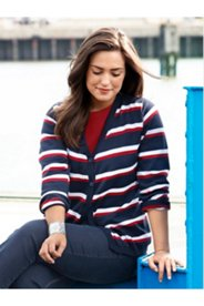 Classic Striped Cardigan Sweater