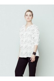 Tiny Heart Print Blouse