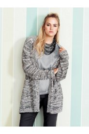 Two Tone Pocket Cardigan Sweater
