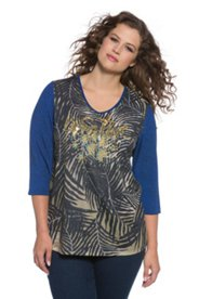 Jungle Sequin Creative Knit Top