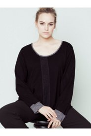 Front Lace Inset Sweater
