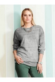 Oil Dye Drop Shoulder Sweater