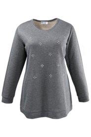Sweatshirt mit Muster aus Ziersteinen