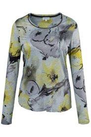 Shirt, Langarm, Blumendruck, Viskosemischung