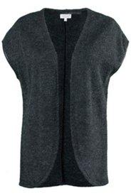 Weste, Strickweste, offene Form, überschnittene Schulter