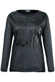 Shirt, modischer Druck, Nietendetails, Rundhalsausschnitt, langarm