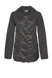 Jacke, Mix aus matt und glänzend, Schalkragen