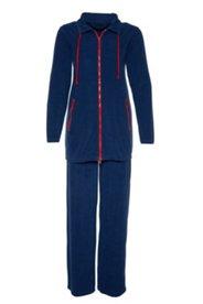 Frottee-Anzug, langarm mit 2 Zippertaschen